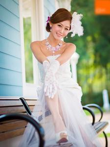 Winne清纯唯美婚纱外拍写真