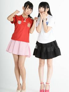 日本少女组合助阵世界杯清纯卖萌搞怪足球(1)