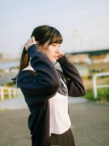 日系少女校服清纯写真