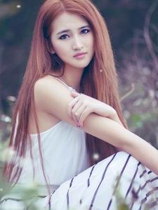 清纯美女森林系生活照绝美靓丽似仙女