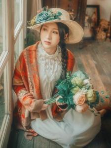 复古贵族气息美女花束优雅迷人