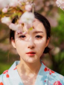 日系少女花丛写真浪漫唯美清新写真