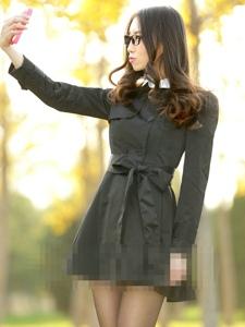 美女教师户外黑丝美臀超级诱惑写真