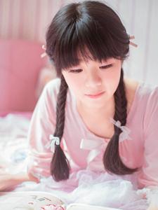 可爱粉嫩少女甜蜜下午茶甜甜圈少女心写真