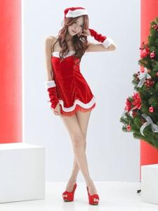 女神腿模张雅筑Ch圣诞夜秀迷人白皙性感美腿