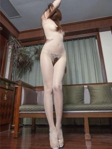 性感美女连体破洞丝袜大胆尺度诱惑