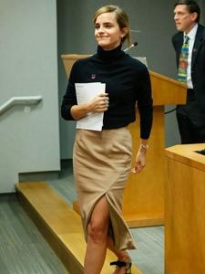 艾玛·沃特森出席HeForShe活动并发表演讲端庄而自信