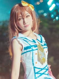 lovelivesunshine国木田花丸夜空中的唯美写真
