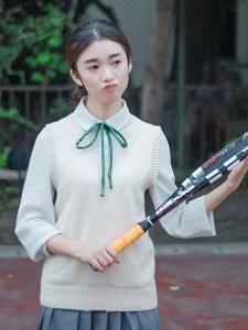 白皙网球妹子温柔可爱清纯可人
