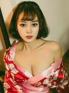 性感妹子赵小米Kitty和风爆乳惊艳写真