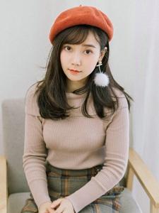 街头韩系美女精致美丽大眼迷人