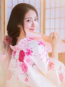 私房和服粉嫩日系少女甜美温馨养眼十足