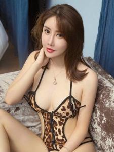 私房瓜子脸豹纹情趣内衣美女性感巨乳诱惑写真