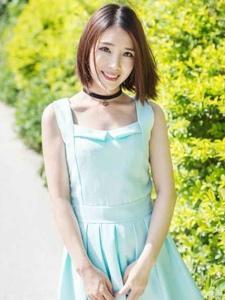 极致清纯短发小清新美女阳光写真