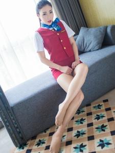 性感空姐Wendy智秀制服肉丝美腿写真诱惑
