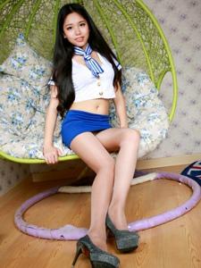 性感丝袜高跟空姐制服诱惑室内写真令人痴迷
