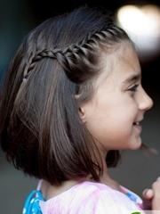 小女孩短发扎发图片 短发儿童编发图片大全