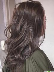 摩卡冷棕色染发效果 冷棕色头发图片大全