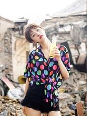 李晓峰最新写真复古红唇娇俏美艳