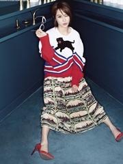 时尚小妞杨紫再登杂志封面