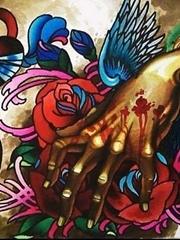 女士欧美风格彩色纹身素材图案