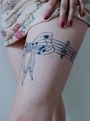 多款帅气的音乐主题音符纹身图案