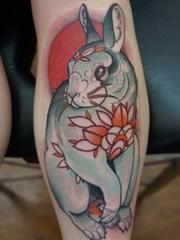 多种风格可爱的兔子纹身图案
