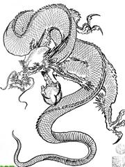代表着祥和之气的神龙图案