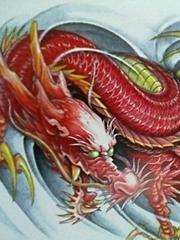 霸气逼人的红色龙神图案