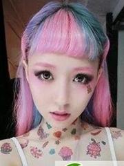 女生个性非主流挑染发型