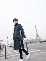 男友力max!张皓然巴黎街头漫步