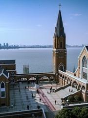 独墅湖教堂航拍