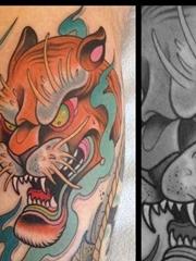 school老虎纹身图案