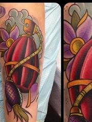 欧美风格手雷纹身图案