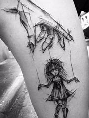 15款黑色的简易纹身素描纹身图案