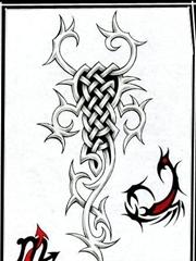 比较适合天蝎座的蝎子纹身手稿图