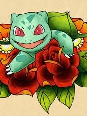 趴在花瓣中的猫咪刺青图案