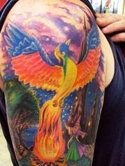 10款漂亮的火凤凰纹身图案