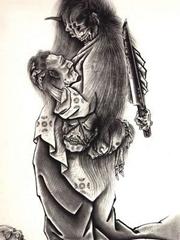 日本鬼怪纹身手稿图