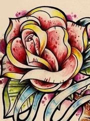 时尚school玫瑰花纹身图分享