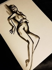 性感女郎裸体纹身纹身手稿图案大全来自塔利