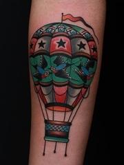 超完美的传统纹身图案来自于纹身师摩西