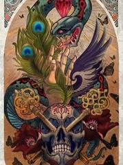 惊悚蛇灭骷髅头纹身图片