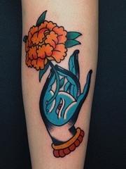 多款关于手部手指主题纹身图案欣赏来自埃夫里