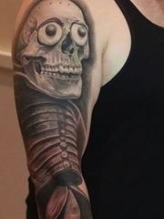 纪念死亡的神灵阿兹特克古老之神纹身神话人物纹身图案
