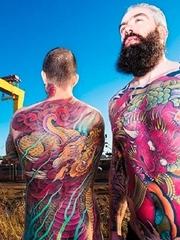 多款日本风格的大面积纹身图案来自克里斯