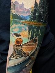 彩色的超现实主义纹身水彩纹身立体图案