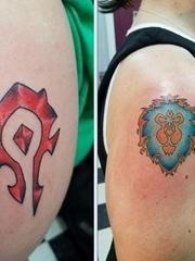 创意情侣纹身手臂上魔兽部落纹身图片