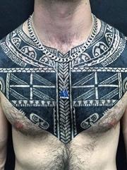 30+款男性帅气的黑色部落图腾纹身图案