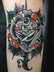 12款靓丽的星际大战机器人BB-8纹身图案
